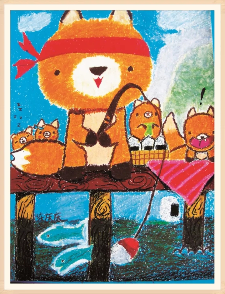 希望美术教育儿童美术作品:童趣插画