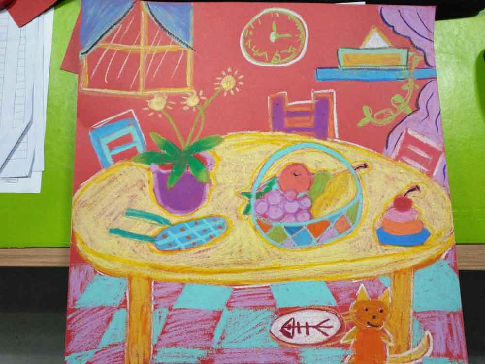 希望美术教育儿童美术作品:温馨的家
