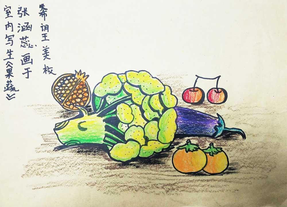 幼儿蔬菜绘画作品