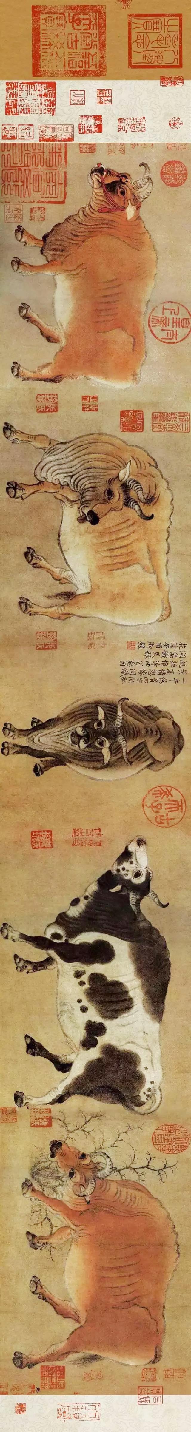 """五牛图什么寓意_中国十大传世名画《五牛图》,凭什么它是""""镇国之宝""""?"""