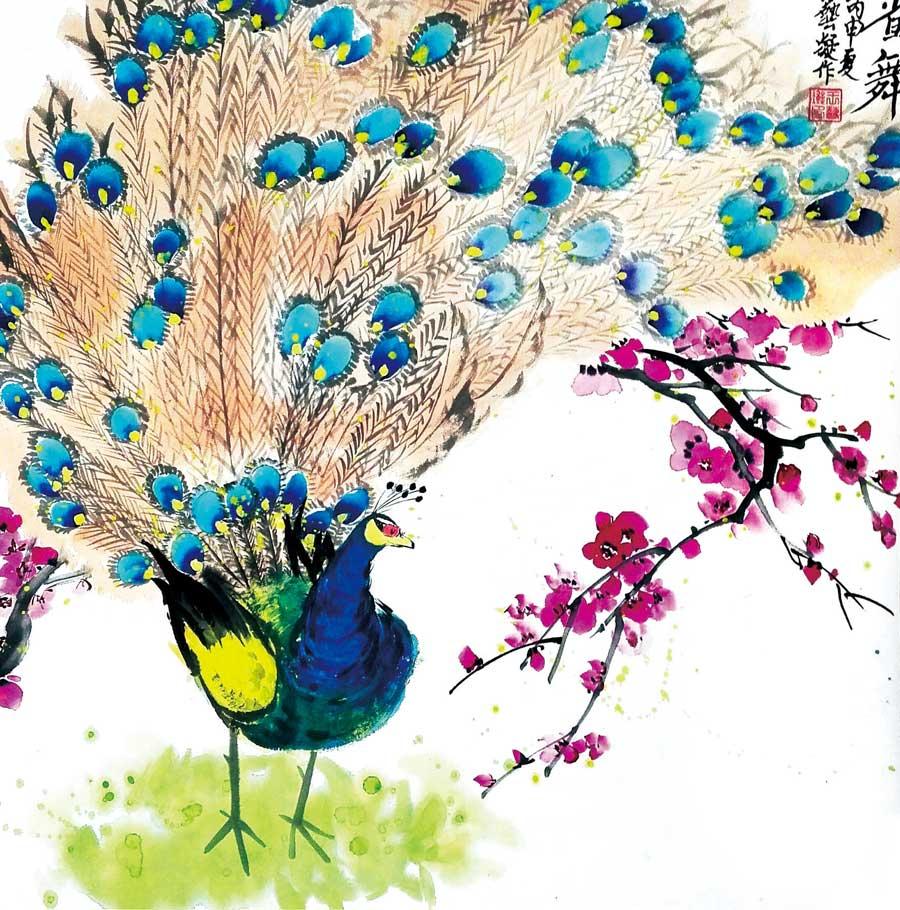 希望课程 作品档案 孔雀  儿童美术作品:孔雀 作品点评: 通过本节课的
