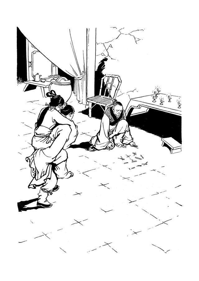 金庸名著《射雕英雄传》插图作品欣赏  大侠一路走好!